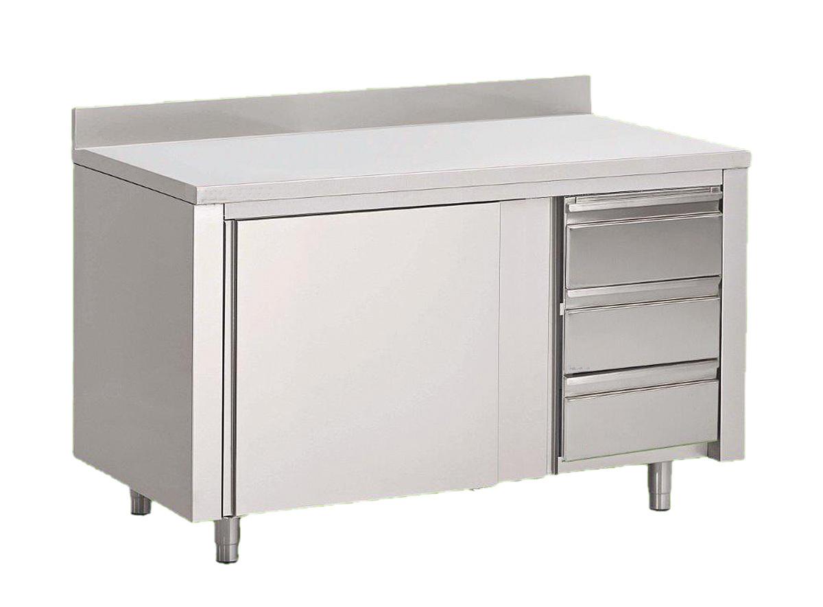 Arbeitsschrank 160x70, mit Schiebetüren und Schubladen - www.gastro ...